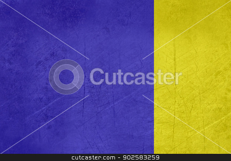 Flag of Viterbo city in Italy stock photo, Grunge illustrated flag of Viterbo city in Italy. by Martin Crowdy