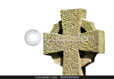Celtic cross  stock photo, Celtic cross isolated on a white background. by Martin Crowdy