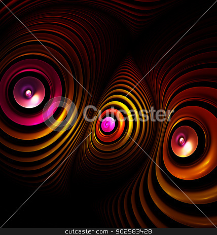 Alien telescopes. Computer generated fractal artwork. stock photo, 	Abstract background with computer generated fractal artwork by Maria Repkova