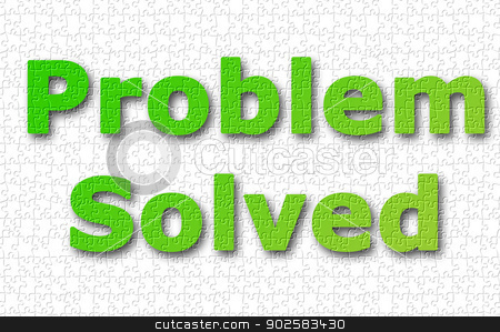 Problem solved background stock photo, Abstract problem solved background with jigsaw effect. by Martin Crowdy