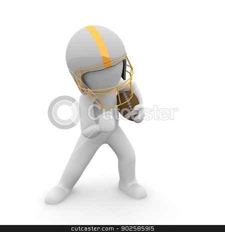 Football stock photo, A character is preparing for an interesting game. by visualtektur