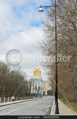 Catherine Palace stock photo, Catherine Palace at Tsarskoye Selo (Pushkin), St. Petersburg, Russia  by boonsom