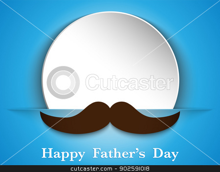 Happy Father Day Mustache Love stock vector clipart, Vector - Happy Father Day Mustache Love by Augusto Cabral Graphiste Rennes