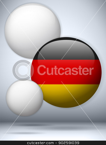 Germany Flag Glossy Button stock vector clipart, Vector - Germany Flag Glossy Button by gubh83