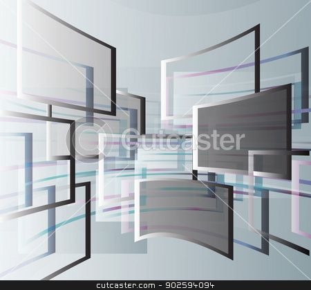 Abstract background with squares stock vector clipart, Abstract background with squares. Geometric architecture windows. Design energy of motion. Vector eps10 illustration. by Pavel Skrivan