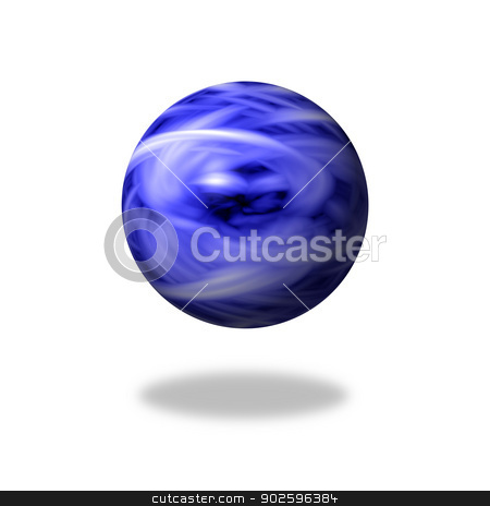 Blue Flame Globe stock photo, Blue flame marble on white background with shadow by Henrik Lehnerer