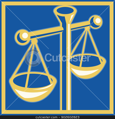 scales of justice set inside a square stock photo, Imagery shows a scales of justice set inside a square by patrimonio