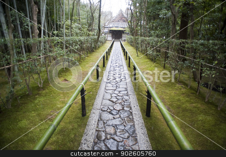 Path to the Koto-in, the sub-temple of Daitoku-ji stock photo, Walkway to the Koto-in, the sub-temple of Daitoku-ji Buddhist temple and one of the fourteen branches of the Rinzai school of Japanese Zen. Kita-Ku, Kyoto, Japan by Stephen Gibson