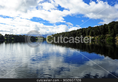 Lake Manapouri stock photo, Beautiful Lake Manapouri on the south island of New Zealand by Don Fink