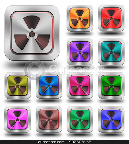 Radioactive aluminum glossy icons, crazy colors stock photo, aluminum, steel, chromium, glossy, icon, button, sign, icons, buttons, crazy colors by Konrad Kerker