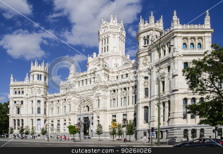 Cibeles Palace (City Hall of Madrid) stock photo, Cibeles Palace - formerly Communications Palace, now Madrid City Hall by Inna Malostovker