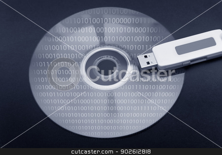 Digital information stock photo, Digital information by B.F.