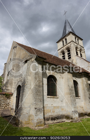 Church of Themericourt, Val d'oise, Ile de France, France stock photo, Church of Themericourt, Val d'oise, Ile de France, France by B.F.