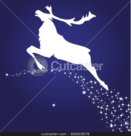 Christmas deer stock photo, Christmas deer by Maria Cherevan
