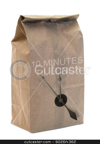 Brown Paper Bag stock photo, A brown paper bag isolated on a white background by Richard Nelson