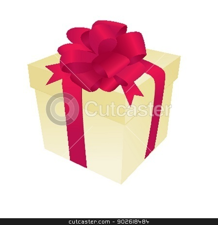 Christmas gift box. Christmas background stock photo, Christmas gift box. Christmas background by Maria Cherevan
