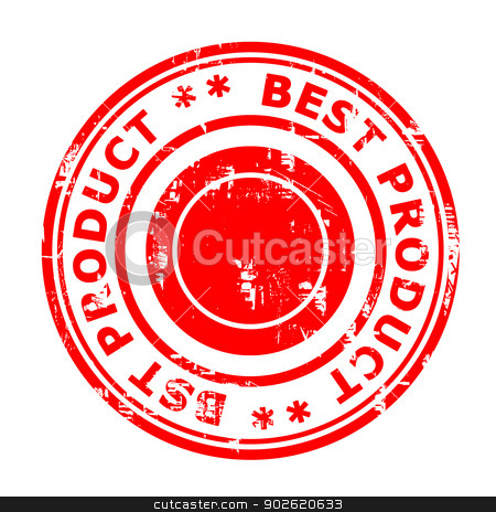 Best product concept stamp stock photo, Best product concept stamp isolated on a white background. by Martin Crowdy
