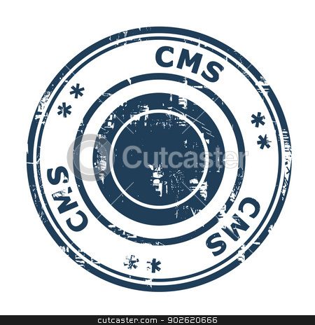 CMS business stamp stock photo, CMS business concept stamp isolated on a white background. by Martin Crowdy
