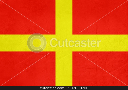 Grunge Messina Flag stock photo, Illustrated abstract grunge flag of Messina region of Italy  by Martin Crowdy
