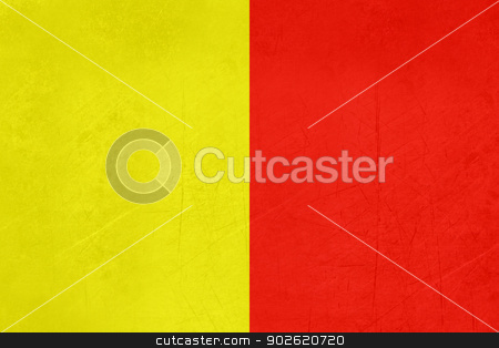 Grunge flag of Naples region of Italy stock photo, Grunge flag of Naples region of Italy by Martin Crowdy