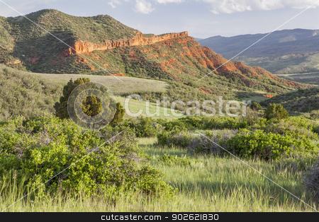 Colorado mountain ranch stock photo, Colorado mountain ranch in early summer - Red Mountain Open Space near Fort Collins by Marek Uliasz