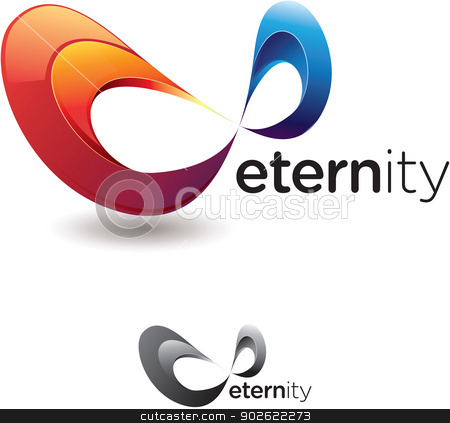 Eternity Symbol stock vector clipart, Stylized eternity or infinity symbol with flashy colors and monochrome version by HypnoCreative