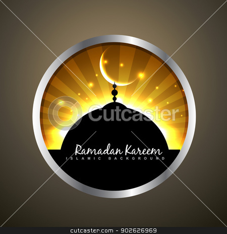 ramadan kareem label stock vector clipart, beautiful ramadan kareem label vector by pinnacleanimates