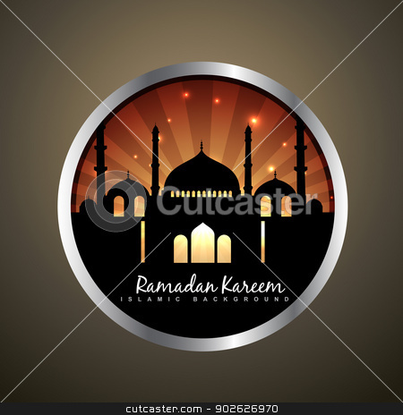 islamic label design stock vector clipart, islamic background vector label design by pinnacleanimates