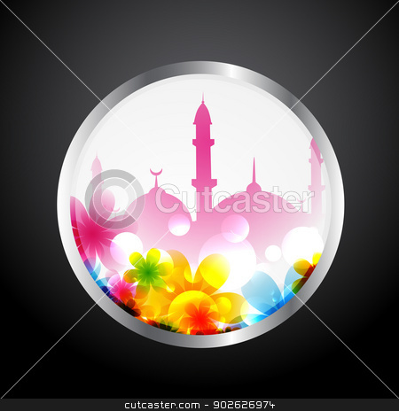 ramadan kareem label stock vector clipart, vector ramadan kareem design label by pinnacleanimates