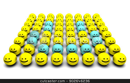 Happiness stock photo, Happiness with a Group of Happy Faces  by Kheng Ho Toh