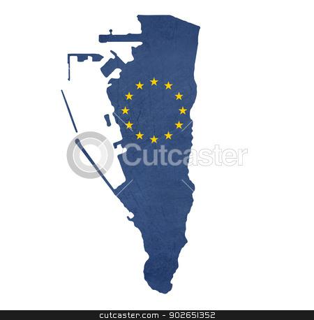 European flag map of Gibraltar stock photo, European flag map of Gibraltar isolated on white background. by Martin Crowdy