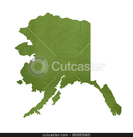 State of Alaska stock photo, American state of Alaska isolated on white background with clipping path. by Martin Crowdy