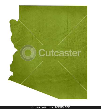 State of Arizona stock photo, American state of Arizona isolated on white background with clipping path. by Martin Crowdy