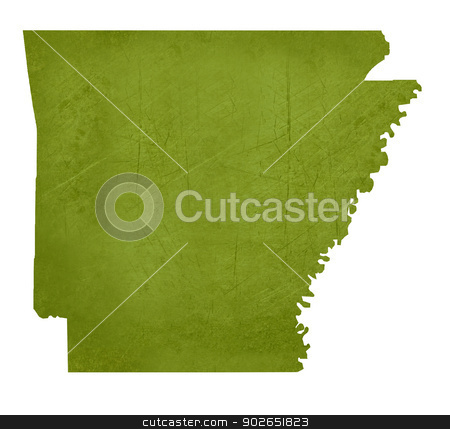 State of Arkansas stock photo, American state of Arkansas isolated on white background with clipping path. by Martin Crowdy