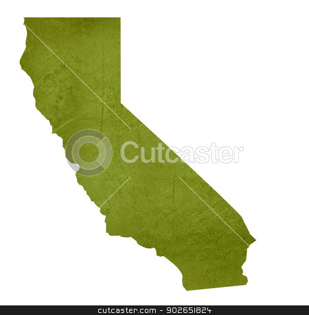 State of California stock photo, American state of California isolated on white background with clipping path. by Martin Crowdy