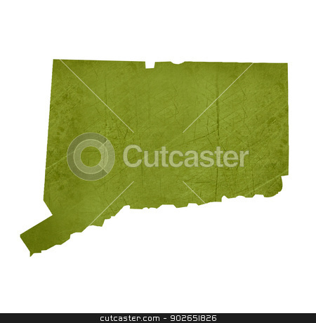 State of Conneticut stock photo, American state of Conneticut isolated on white background with clipping path. by Martin Crowdy