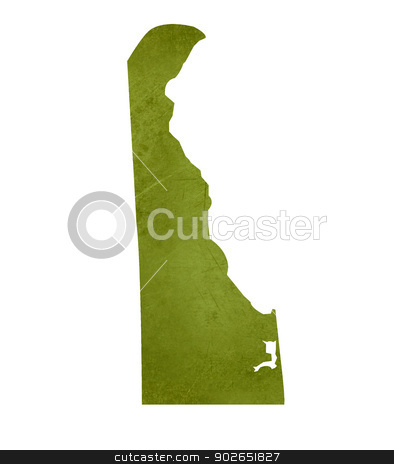 State of Delaware stock photo, American state of Delaware isolated on white background with clipping path. by Martin Crowdy