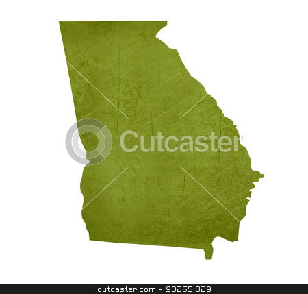 State of Georgia stock photo, American state of Georgia isolated on white background with clipping path. by Martin Crowdy