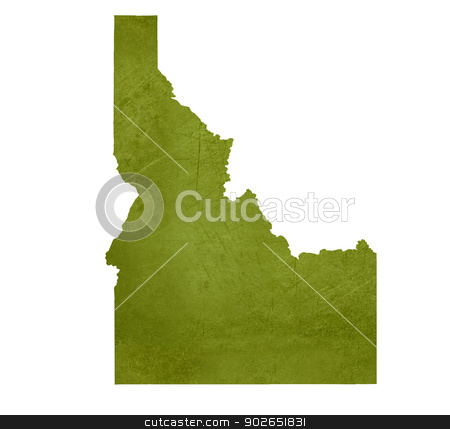 State of Idaho stock photo, American state of Idaho isolated on white background with clipping path. by Martin Crowdy