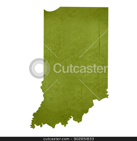 State of Indiana stock photo, American state of Indiana isolated on white background with clipping path. by Martin Crowdy