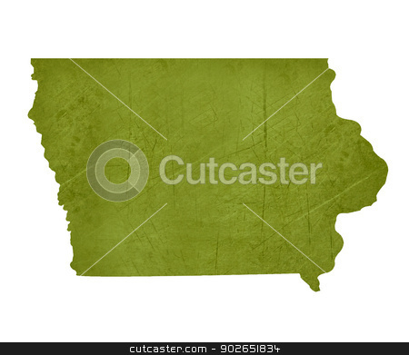 State of Iowa stock photo, American state of Iowa isolated on white background with clipping path. by Martin Crowdy