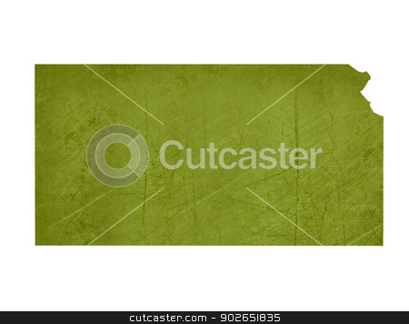 State of Kansas stock photo, American state of Kansas isolated on white background with clipping path. by Martin Crowdy