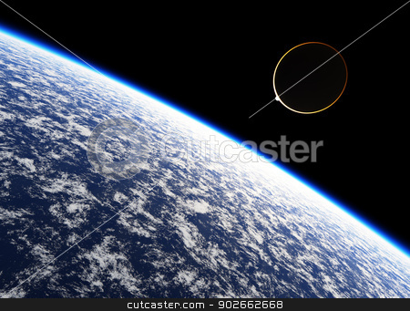 Halo stock photo, Atmosphere of the planet Earth. by Bratovanov