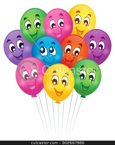 Balloons theme image 5 stock vector clipart, Balloons theme image 5 - eps10 vector illustration. by Klara Viskova