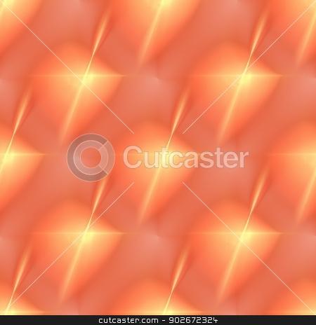 Fractal Orange Star stock photo, Fractal with vibrant orange color in the shape of a star. by Henrik Lehnerer