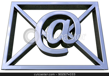 email symbol stock photo, 3D simulation of email isolated and with clipping path by croreja