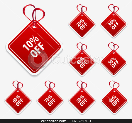 Square Price Tag stock vector clipart, This image is a vector file representing a collection of square price tag labels. by Bagiuiani Kostas