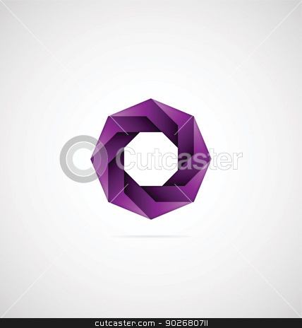 Decorative Octagon Icon stock vector clipart, Decorative octagon icon can also be used as logo by Vishnu Sathyan