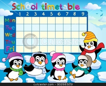 School timetable theme image 9 stock vector clipart, School timetable theme image 9 - eps10 vector illustration. by Klara Viskova
