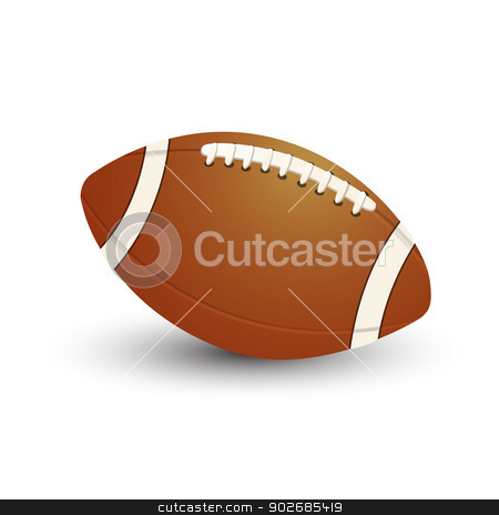 American Football Ball stock vector clipart, American Football ball icon on white background by Richard Laschon